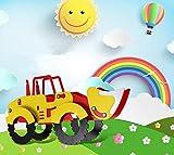 Kinder Kronleuchter Karikatur Gabelstapler kreative niedlichen Jungen Mädchen Zimmer Lichter Kindergarten warmen Schlafzimmer Lichter