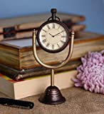 Antique Retro Vintage-Inspired Brass Metal Craft Table Clock Home Decoration -3 Inch best price on Amazon @ Rs. 683