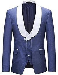 Sliktaa Costume Homme Deux-Pièces Formel Slim Fit d affaires Mariage  Smoking Col Châle 522fa20456c