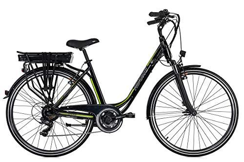 Adore Alu City Pedelec Versailles 28'' E-Bike schwarz-grün 250Watt Li-Ion 36V/10,4Ah 7Gänge