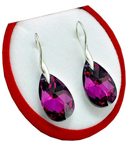 gancho-mandele-22-mm-color-fucsia-cal-schon-pendientes-pendientes-con-cristales-de-swarovski-element