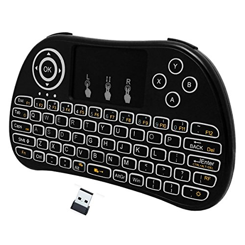 LED Backlit Mini Wireless Keyboard With Touch Pad Mouse and