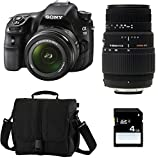 Sony α A58+ dt 18–55mm + Sigma AF 70–300mm-Set Kamera SLR 20,1MP CMOS 5456x 3632pixels schwarz–Digitalkameras (20,1MP, 5456x 3632Pixel, CMOS, Full HD, 492G, schwarz)