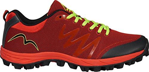 More Mile Cheviot 3- Chaussures de course pour homme Rouge/noir