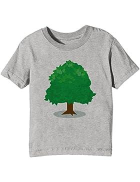 Verde Árbol Niños Unisexo Niño Niña Camiseta Cuello Redondo Gris Manga Corta Todos Los Tamaños Kids Unisex Boys...