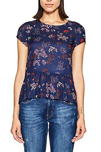 ESPRIT Damen Bluse 018EE1F010, Mehrfarbig (Navy 400), 36