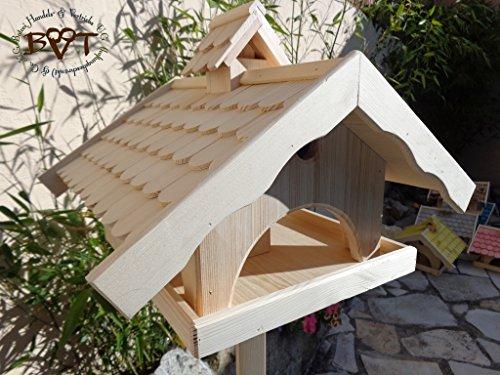 vogelhaus gro mit nistkasten bel x voni5 natur002 gro es wetterfestes. Black Bedroom Furniture Sets. Home Design Ideas