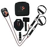 Schlingentrainer mit Umlenkrolle Sling Trainer SuspensionTrainer mit Kabelzugfunktion Crossfit Calisthenics