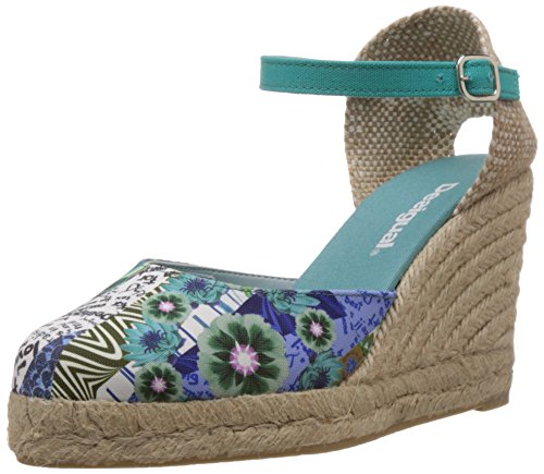 Desigual SHOES TEACAS, Espadrillas donna, Turchese (Türkis (5024)), 38
