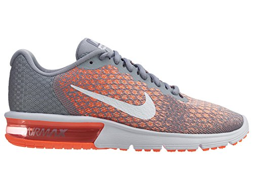 NIKE Air Max Sequent 2 Chaussures de Course Wolf Grey/Bright Mango/Sunset Glow/White