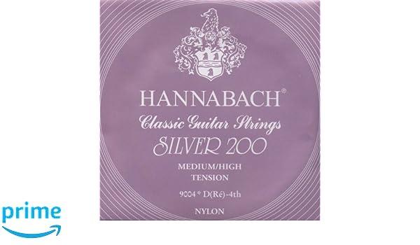 Hannabach 652667 Series 900 Silver 200 Medium//High Tension String Set for Classic Guitar