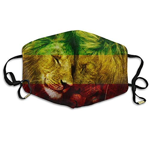 QIAOJIE Top Quality,Cool Gift,Soft and Durable Mund Maske Lion of Jamaica Face Mund Maske, Reuseable Polyester Face Mouth Mund Maske Respirator for Cycling Anti Dust for Unisex Men Women Girls