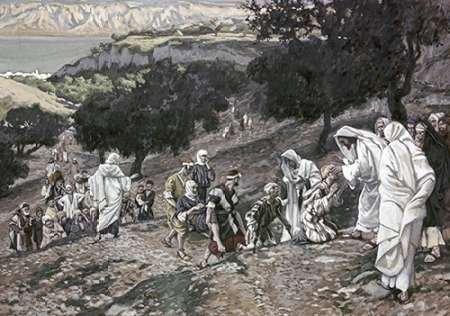 ingathome-Leinwand-Bild-Jesus-heilt-Lahmen-und-Blinden-cm53x77-Kunstdruck-auf-Leinwand ()