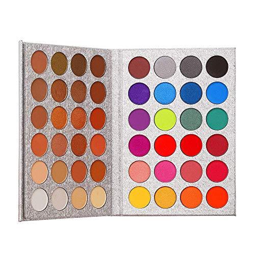 Beauty Glazed 48 Farben Schimmer Glitter Lidschatten Pulver Palette Kosmetik Make-Up Matte Langlebig Warm Farbe Augenschatten Palette Professionelles Makeup Set -