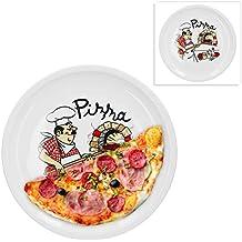 SNEG Pizzateller 32cm aus Holz mit lustiger pers/önlicher Gravur und Pizza-Motiv