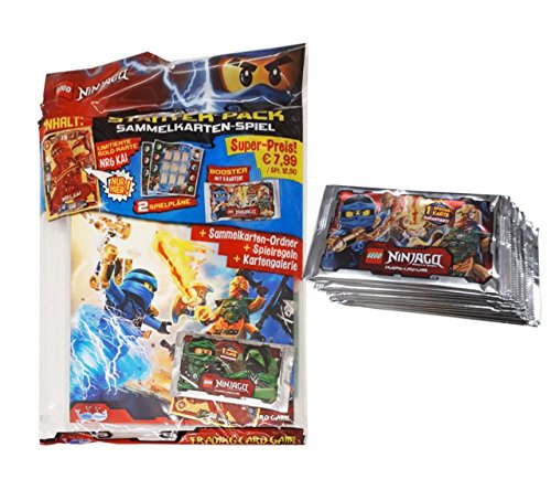 LEGO Ninjago Trading Card Game Serie 1 Starter + 10 Booster Packs Serie 1