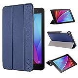 tinxi® Huawei T1 7,0 Funda, PU artificial piel Funda para Huawei MediaPad T1 7.0 Tablet 7 pulgadas (17,78cm) protectora Cover Tablet Notebook Case con el fondo azul oscuro