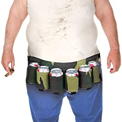 Cinturón porta cervezas Camuflaje para 6 latas