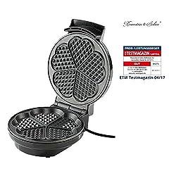 Rosenstein & Söhne Waffelautomat: Waffeleisen für Herzwaffeln (Waffelmaker)