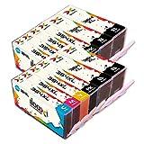 Ilooxi Kompatibel HP 364XL Druckerpatronen mit Chip zu HP Photosmart 5510 5511 5512 5514 5515 5520 5522 B8550 HP Deskjet 3070A 12-Pack mit Photoblack