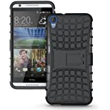 MACC Defender Series Dual Layer Hybrid TPU + PC Kickstand Case Cover for HTC Desire 820 (Black)