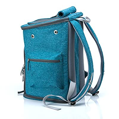 Pet Carrier, Travel Backpack, Washable, Side Pockets for Water Bottle and Garbage Bag, Detachable and Washable Pad, Puppy Kitty Rabbit, For Daily or Travel by Sinobay