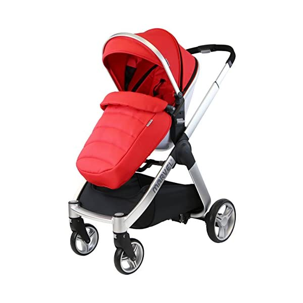 iSafe Marvel 3in1 Travel System Includes Car Sea & Carrycot (Red Pearl) iSafe  3