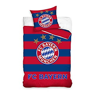 FC Bayern München BMFC171003 Fußball Bettwäsche Football Club Bed Linen 135x200 cm + 70x80 cm
