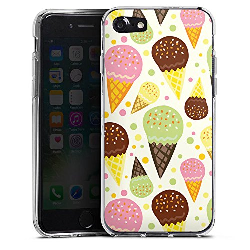 Apple iPhone X Silikon Hülle Case Schutzhülle I love Icecream! Sommer Grafik Silikon Case transparent