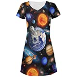 Galaxy-Solar-System Aller Junioren Beach Cover-up Kleid Multi LG