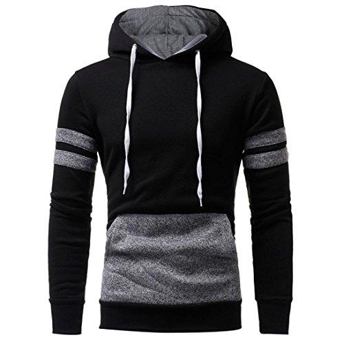 Paolian Chandail à Capuchon à Capuchon pour Hommes, Sweat-Shirt Mode Automne et Hiver Couleur Unie