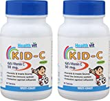HealthVit KID-C Kid's Vitamin-C Chewable 60 Tablets (Pack of 2) best price on Amazon @ Rs. 250