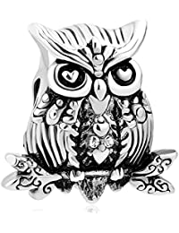 Cuentas de pulsera Uniqueen con diseño de búho, representando la sabiduría