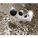 murando - Fototapete 200x140 cm - Vlies Tapete - Moderne Wanddeko - Design Tapete - Wandtapete - Wand Dekoration - Puzzle Abstrakt a-A-0190-a-b