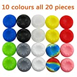 Pandaren® prise de pouce thumb grip caps 10 ensembles Pack pour PS2, PS3, PS4, Xbox 360, Xbox One, Wii U, Switch PRO Manette