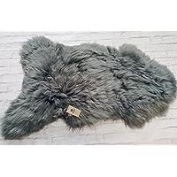 Grey XXL Sheepskin Rug with Extra Thick Wool 100% Genuine (110-120)