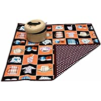 Kuber Industries Bed Server/ Food Mat/ Bedsheet Protector In 3 Layered Heavy Material Reversible