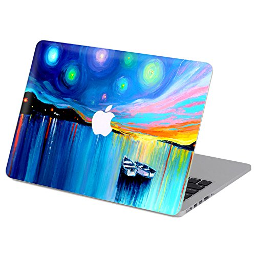 kikhorse Ölgemälde Kollektion Hochwertige Ultra Dünn Vorderseite Aufkleber Removeable Top Abziehbild Für New MacBook Air 13 Zoll Retina (2019/2018, Touch ID) (Modell: A1932) (Boot) -