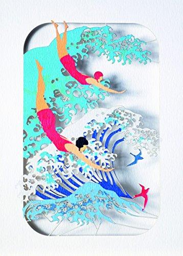 Forever Geburtstag Schwimmen Laser Cut Karte 3D Grußkarte Wellen Meer Urlaub Einladung 16x11cm