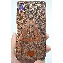RoseFlower® Sony Xperia Z5 Premium Funda de Madera - Buda indio de palo de rosa - Natural Hecha a mano de Bambú / Madera Carcasa Case Cover con GRATIS Protector de Pantalla para tu Smartphone