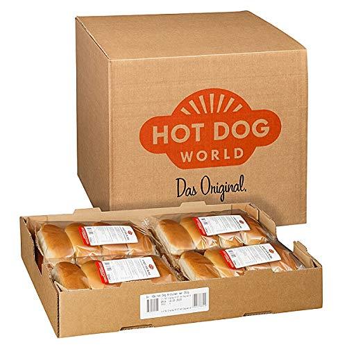 Hot Dog World Hot Dog Brötchen 192 x 62,5 g -vorgeschnitten-