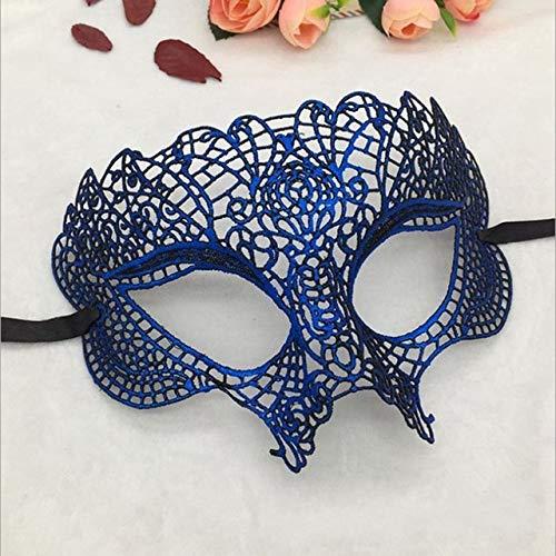 en für Maskerade Halloween Kostüm Party Frauen Mädchen Elegante Makeup Augenmaske Venezianischen Karneval Maske Dekoration, blau ()