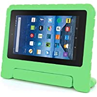 Vovotrade® Bambini antiurto EVA Maniglia cassa per Amazon Kindle Fire HD 7 2015 (Verde)