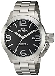 TW Steel Mens CB2 Analog Display Quartz Silver Watch