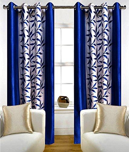 Inira Trendz 2 Piece Eyelet Polyster Curtain - Blue