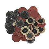EsportsMJJ 40Pcs 40/80/120/240 Grits 2 Inch Roll Lock R Art Sanding Abrasive Disc