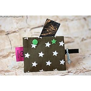Schicker Kotbeutelspender in Braun mit weißen Sternen