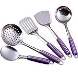 Da.Wa 5 Stück Set Küche Kochgeräte, Hitze Beständig Küchenartikel - perfekt für alle Arten von Kochen