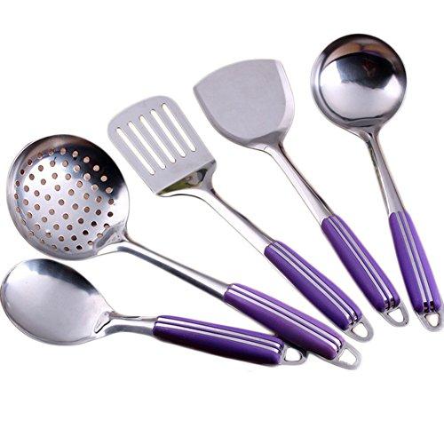 Da.Wa 5 Stück Set Küche Kochgeräte, Hitze Beständig Küchenartikel - perfekt für alle Arten von Kochen (5 Stück Lagerung Set)