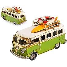DSstyles DSstyles 6.3 pulgadas de metal retro clásico T1 camper Van Beach Bus modelo de juguete para regalo de cumpleaños - Verde